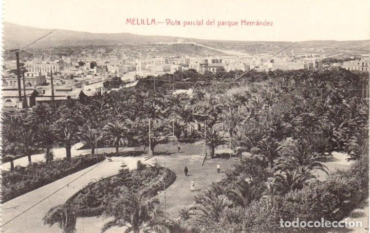 VISTA PARCIAL DEL PARQUE HERNÁNDEZ. EDIC. BOIX HERMANOS. MELILLA (Postales - España - Melilla Antigua (hasta 1939))