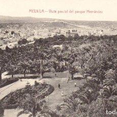 Postales: VISTA PARCIAL DEL PARQUE HERNÁNDEZ. EDIC. BOIX HERMANOS. MELILLA. Lote 203526776