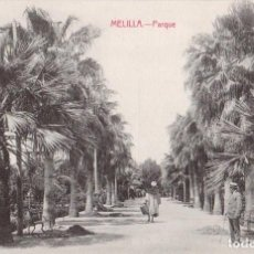 Postales: MELILLA. PARQUE. EDIC. BOIX HERMANOS. MELILLA. Lote 203558595