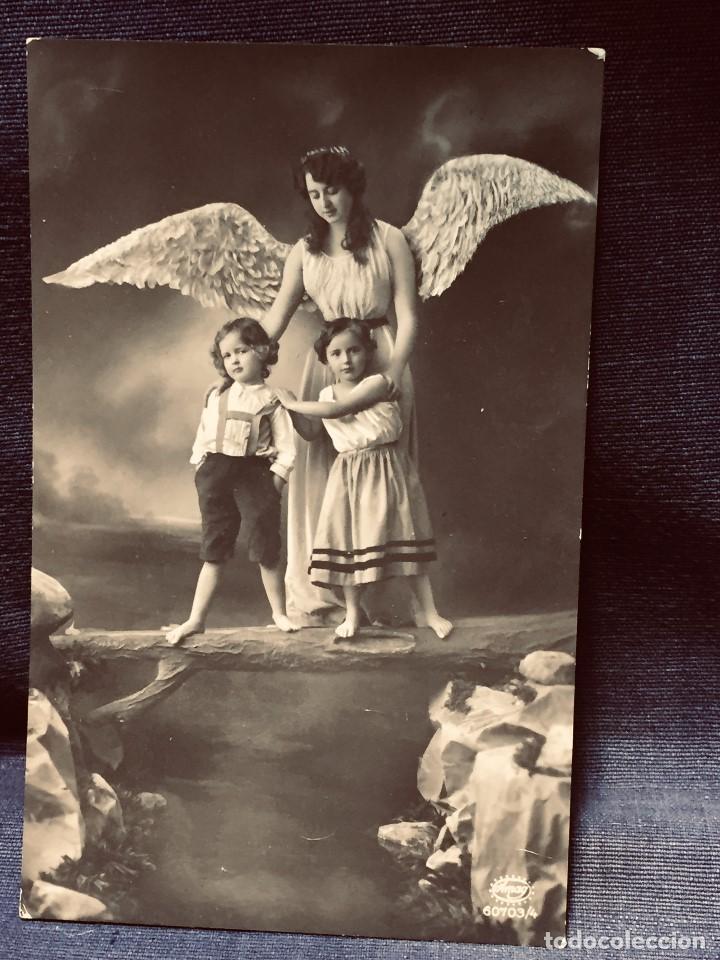 POSTAL MELILLA 1913 ANGEL DE LA GUARDA INSCRITA BUEN ESTADO GARRIDO DE GALLONET (Postales - España - Melilla Antigua (hasta 1939))