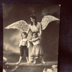 Postales: POSTAL MELILLA 1913 ANGEL DE LA GUARDA INSCRITA BUEN ESTADO GARRIDO DE GALLONET. Lote 203634657