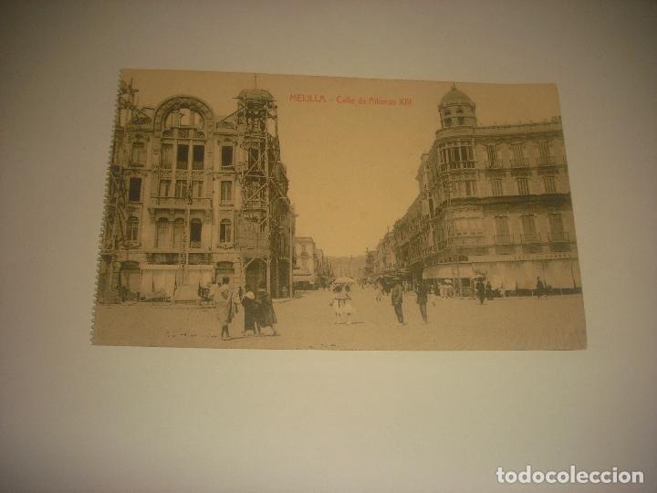 MELILLA , CALLE DE ALFONSO XIII . ED. BOIX HERMANOS, SIN CIRCULAR. (Postales - España - Melilla Antigua (hasta 1939))
