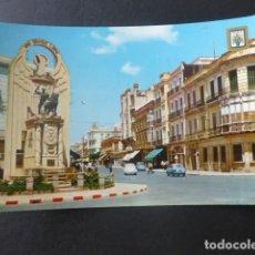 Postales: MELILLA MONUMENTO Y AVENIDA DEL GENERALISIMO. Lote 203996238
