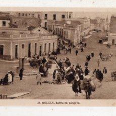 Postales: MELILLA. BARRIO DEL POLÍGONO.. Lote 210177701