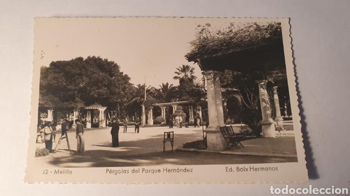 12 MELILLA/ PÉRGOLAS DEL PARQUE HERNANDEZ/ ED.BOIX HERMANOS/ SIN CIRCULAR/( REF.10) (Postales - España - Melilla Moderna (desde 1940))