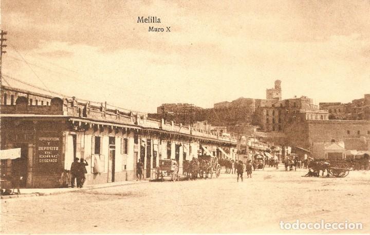 MELILLA Nº 115 MURO X POSTAL EXPRES SIN CIRCULAR (Postales - España - Melilla Antigua (hasta 1939))