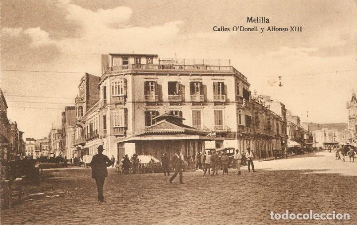 MELILLA 108 C. ODONELL Y ALFONSO XIII POSTAL EXPRES S.C. (Postales - España - Melilla Antigua (hasta 1939))