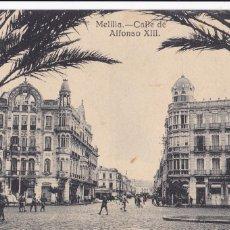 Postales: MELILLA CALLE ALFONSO XIII. ED. EXCLUSIVO CABRERA. SIN CIRCULAR. Lote 213895855