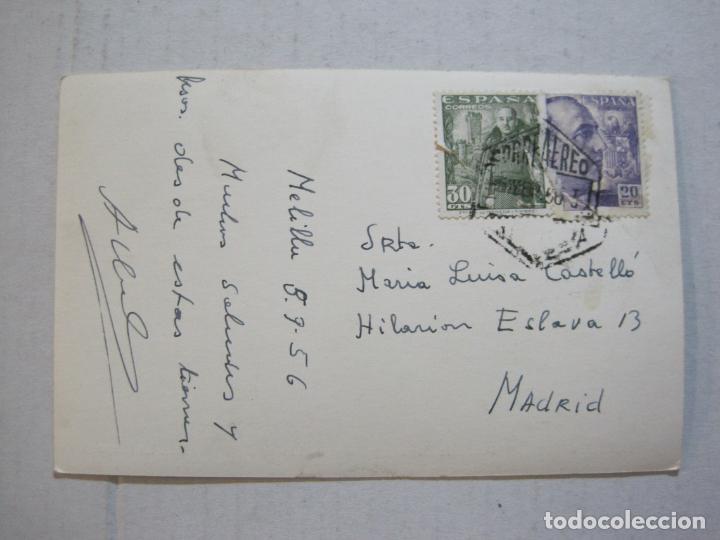 Postales: MELILLA-PLAZA DE ESPAÑA Y PALACIO MUNICIPAL-SELLO CORREO AEREO-FOTOGRAFICA-POSTAL ANTIGUA-(73.600) - Foto 3 - 215485146