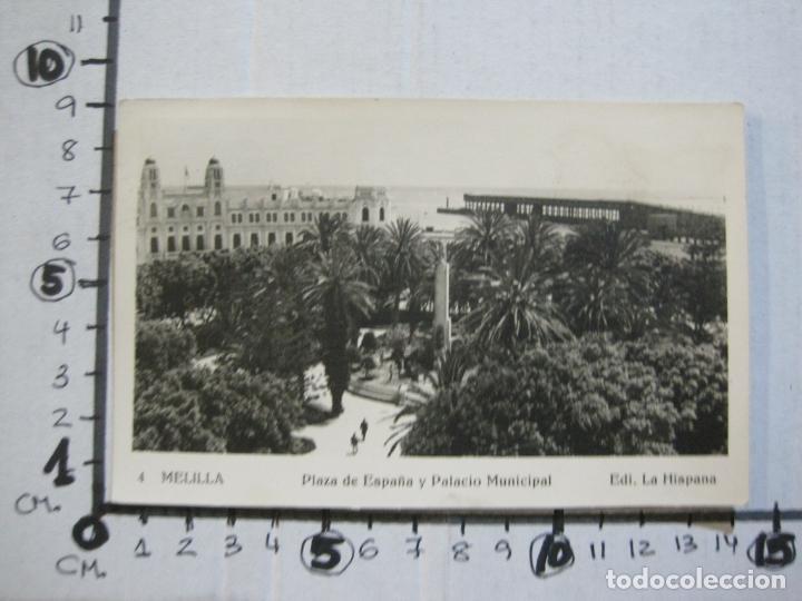 Postales: MELILLA-PLAZA DE ESPAÑA Y PALACIO MUNICIPAL-SELLO CORREO AEREO-FOTOGRAFICA-POSTAL ANTIGUA-(73.600) - Foto 5 - 215485146