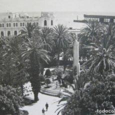 Postales: MELILLA-PLAZA DE ESPAÑA Y PALACIO MUNICIPAL-SELLO CORREO AEREO-FOTOGRAFICA-POSTAL ANTIGUA-(73.600). Lote 215485146