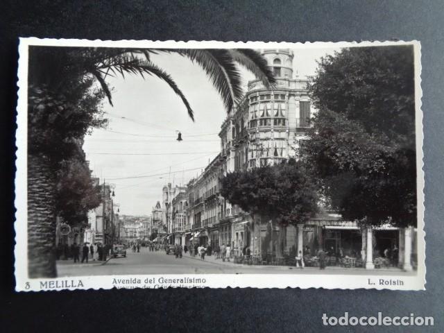 POSTAL MELILLA. AVENIDA DEL GENERALÍSIMO. ROISIN. (Postales - España - Melilla Moderna (desde 1940))