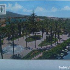 Postales: POSTAL DE MELILLA : PARQUE DE HERNANDEZ . CON PUBLICIDAD VIII REUNION UROLOGIA ANDALUZA. Lote 218865468
