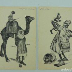 Cartes Postales: DOS ANTIGUOS POSTALES EDICION BOIX MELILLA-TRANSPORTADOR DE VIVERES Y PADRE CARIÑOSO. Lote 219264530