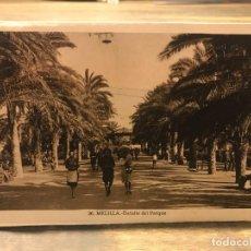 Cartes Postales: POSTAL DE MELILLA - DETALLE DEL PARQUE - 14 CM X 9 CM - FOTOGRAFO L. ROISIN. Lote 219429686
