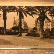 Cartes Postales: POSTAL DE MELILLA - DETALLE DE LA PLAZA DE ESPAÑA - 14 CM X 9 CM - FOTOGRAFO L. ROISIN. Lote 219460851