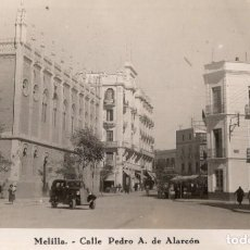 Postales: MELILLA. CALLE PEDRO A. DE ALARCON. Lote 221527195