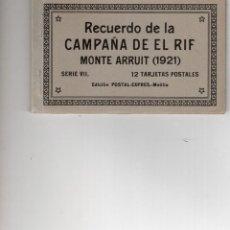 Postales: MELILLA. CAMPAÑA DEL RIF. MONTE ARRUIT 1921. SERIE VII. Lote 221632356