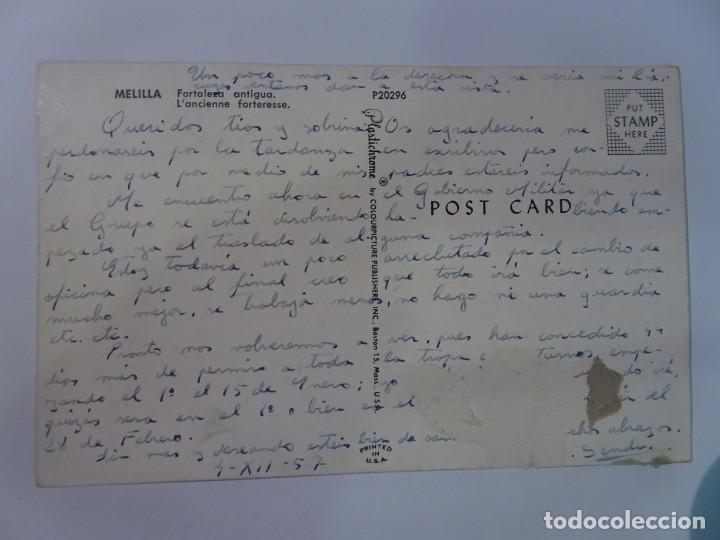 Postales: POSTAL FOTOGRÁFICA, MELILLA, FORTALEZA ANTIGUA, VER FOTOS - Foto 2 - 222103375