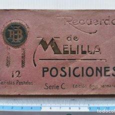 Cartoline: 12 POSTALES RECUERDO DE MELILLA - POSICIONES SERIE C. Lote 224179315