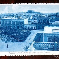 Cartoline: POSTAL DE MELILLA. BARRIO OBRERO Y FUERTE DE SAN LORENZO. COLLECCION MARTINEZ Y SANZ TETUAN. NO CIRC. Lote 228841287