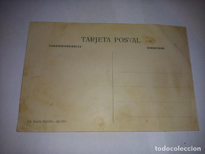 Postales: Antigua postal de Melilla Titulada Ovacion y cabeza de ed Josefa Botella - Foto 2 - 229066370