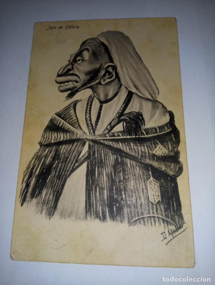 ANTIGUA POSTAL DE MELILLA TITULADA JEFE DE CABILA DE ED BOIX HERMANOS (Postales - España - Melilla Antigua (hasta 1939))