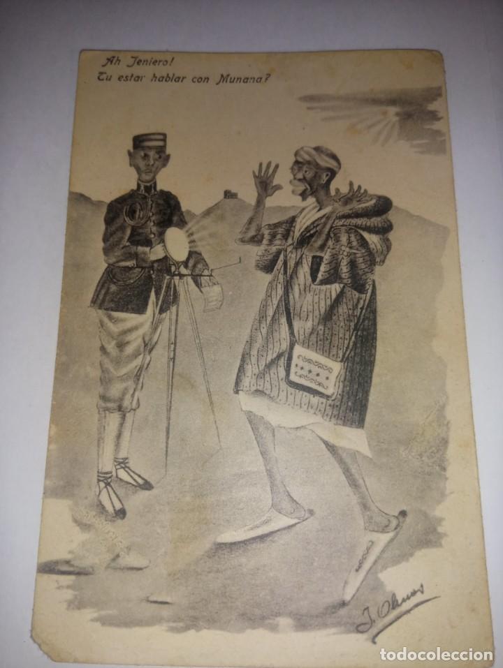 ANTIGUA POSTAL DE MELILLA TITULADA AH JENIERO! TU ESTAR HABLAR CON MUNANA?E ED BOIX HERMANOS (Postales - España - Melilla Antigua (hasta 1939))