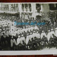 Cartes Postales: MELILLA , POSTAL FOTOGRÁFICA DE LA VISITA DEL GENERAL SILVESTRE, MIDE 13,5 X 10 CMS.. Lote 232876470