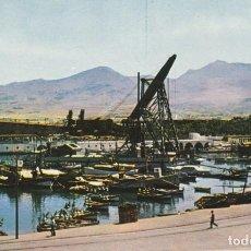 Postales: POSTAL MELILLA DARSENA PESQUERA MONTE GURUGÚ.PLSTICHROME. 3-9-1958. Lote 233027110