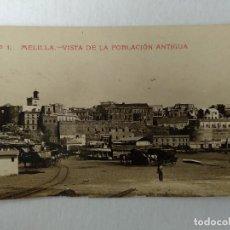 Cartes Postales: POSTAL FOTOGRAFICA, MELILLA, VISTA DE LA POBLACION ANTIGUA. Nº1.. Lote 233116500