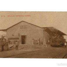 Postales: MELILLA.- ESTACIÓN DEL FERROCARRIL. MELILLA PUERTO. CIRCULADA EN 1916. POSTAL FOTOGRÁFICA.. Lote 233129780
