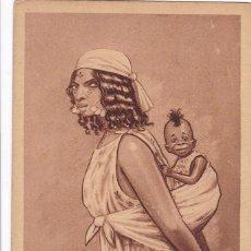 Cartoline: POSTAL ILUSTRADA POR D. MULLOR, MELILLA Nº 2 . MADRE MORA. EDICION AÑO 1921. ESCRITA. Lote 246539880