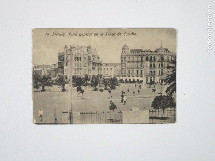 POSTAL MELILLA, VISTA GENERAL DE LA PLAZA DE ESPAÑA (Postales - España - Melilla Antigua (hasta 1939))