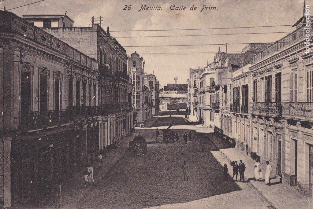 MELILLA, CALLE DE PRIM. ED. BOIX HERMANOS Nº 26. SIN CIRCULAR (Postales - España - Melilla Antigua (hasta 1939))