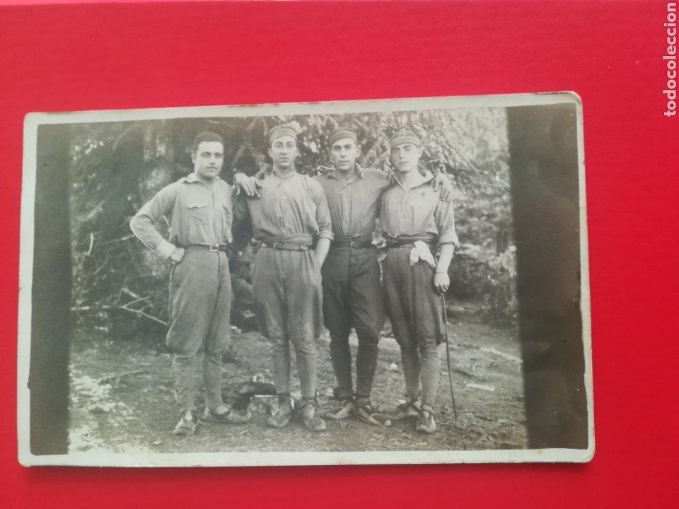 POSTAL ORIGINAL ANTIGUA SOLDADOS ESPAÑOLES, MONTE CÓNICO? EN KETAMA, ZONA MELILLA. AÑO 1927 (Postales - España - Melilla Antigua (hasta 1939))