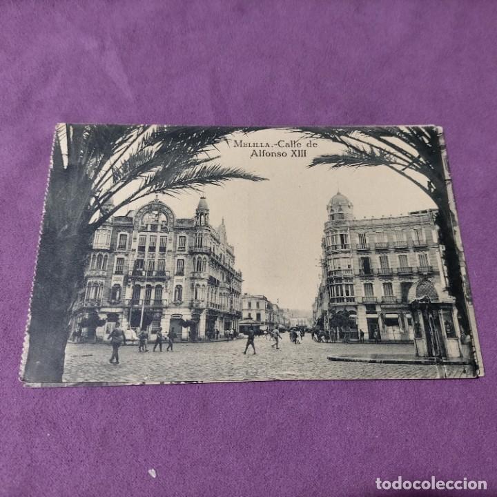 Postales: 3 POSTALES DE MELILLA CALLE DE ALFONSO XIII CALLES DE O DONELL Y ALFONSO XIII GENERAL MARINA - Foto 2 - 248724035