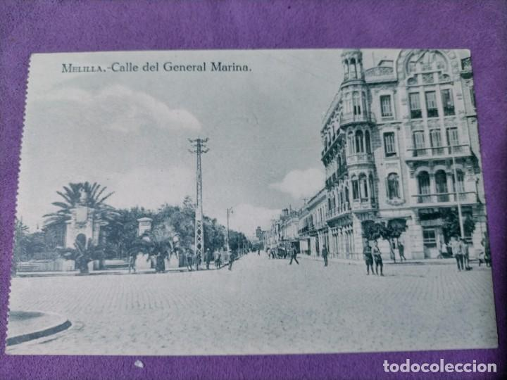 Postales: 3 POSTALES DE MELILLA CALLE DE ALFONSO XIII CALLES DE O DONELL Y ALFONSO XIII GENERAL MARINA - Foto 4 - 248724035
