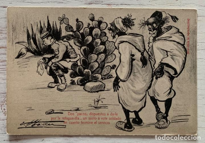 TARJETA POSTAL HUMOR EDICIÓN IBAÑEZ CASTAÑEIRA, ÁLVAREZ Y LEVENFELD.- MADRID. SIN CIRCULAR. (Postales - España - Melilla Antigua (hasta 1939))