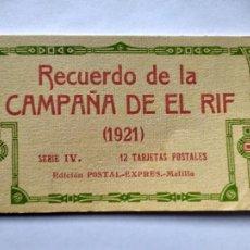 Postais: BLOCK ACORDEON - RECUERDO DE LA CAMPAÑA DE EL RIF - SERIE IV - MELILLA -- ( BLOCK 2021 ). Lote 251344410