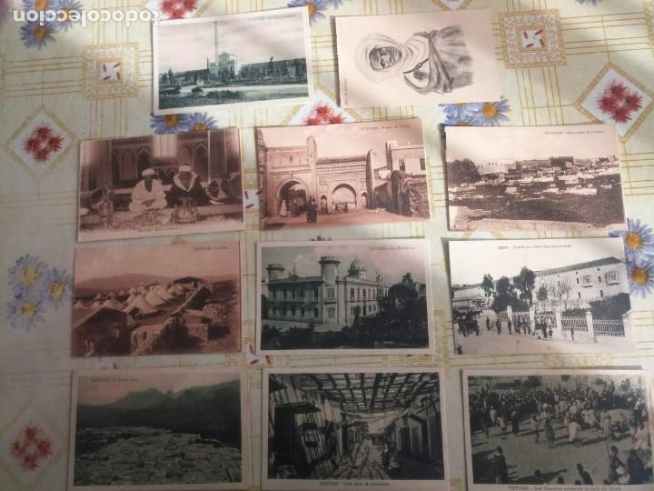 LOTE POSTALES ANTIGUAS TETUÁN MELILLA MILITATES (Postales - España - Melilla Antigua (hasta 1939))