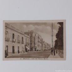 Postales: TARJETA POSTAL DE MELILLA. CALLE DEL GENERAL MARINA. COPIA SEPIA / PAPEL MATE. FOTÓGRAFO L. ROISIN.. Lote 254008625