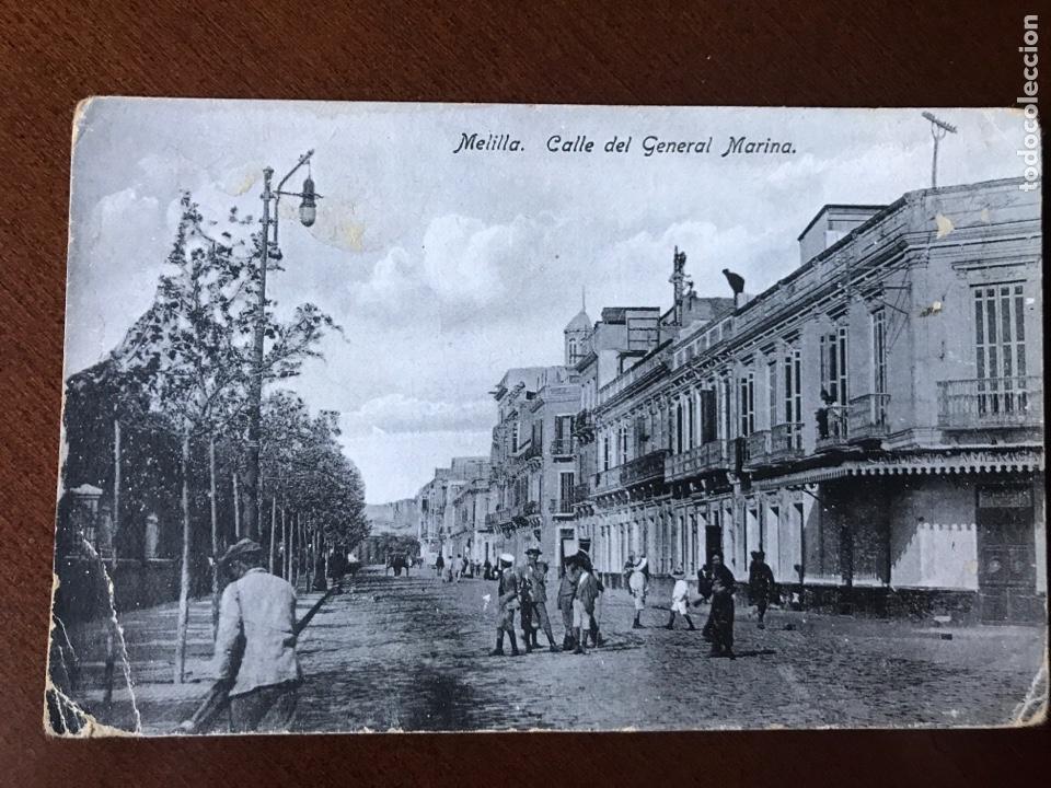 POSTAL MELILLA - CALLE DEL GENERAL MARINA (Postales - España - Melilla Antigua (hasta 1939))