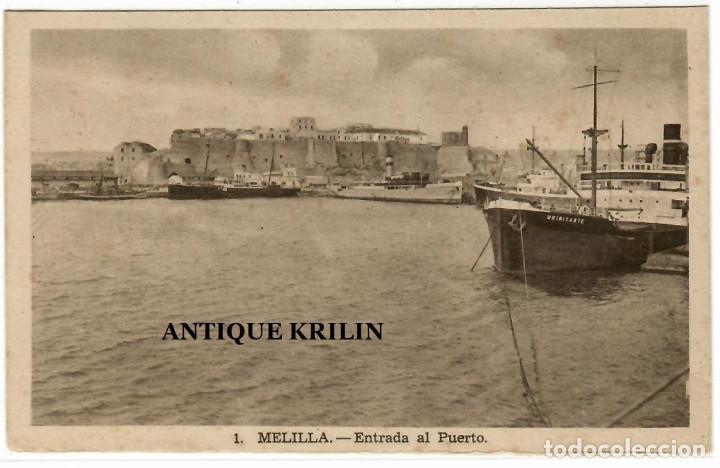 MELILLA Nº 1 ENTRADA AL PUERTO / L. ROISIN (Postales - España - Melilla Antigua (hasta 1939))