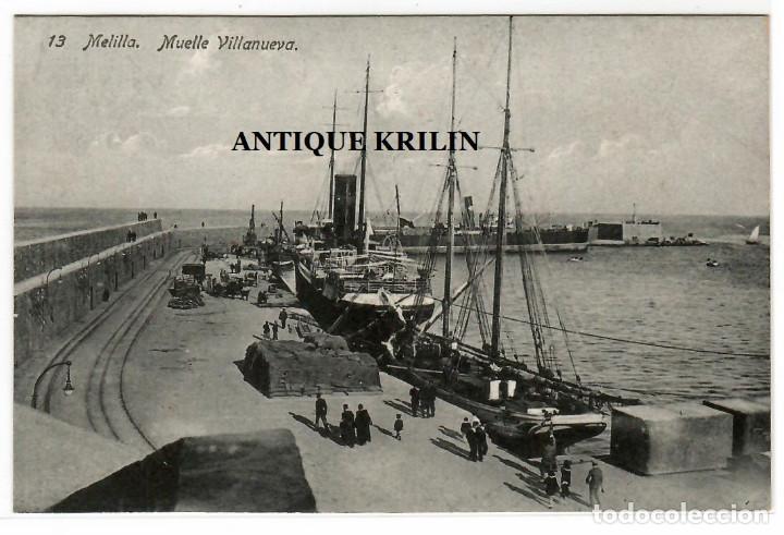 MELILLA Nº 13 MUELLE VILLANUEVA / EDICION BOIX HERMANOS (Postales - España - Melilla Antigua (hasta 1939))