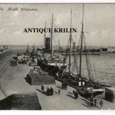 Postales: MELILLA Nº 13 MUELLE VILLANUEVA / EDICION BOIX HERMANOS. Lote 256056610