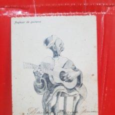 Postales: POSTAL ANTIGUA - MELILLA PROFESOR DE GUITARRA AÑOS 20. Lote 264540919