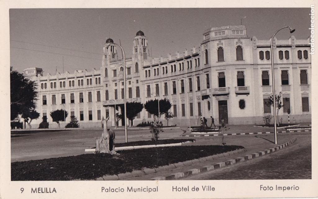 MELILLA PALACIO MUNICIPAL. ED. FOTO IMPERIO Nº 9. SIN CIRCULAR (Postales - España - Melilla Antigua (hasta 1939))