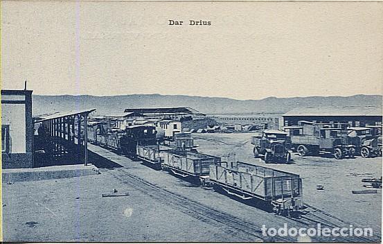 X125483 CERCA DE MELILLA MARRUECOS DAR DRIUS DRIUCH DRIOUCH LA ORIENTAL DRIOUCH CON TREN FERROCARRIL (Postales - España - Melilla Antigua (hasta 1939))