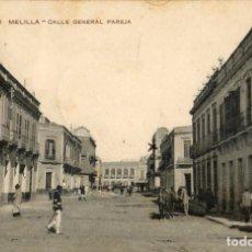 Postales: POSTAL ANTIGUA-MELILLA-CALLE GENERAL PAREJA-CIRCULADA Y DIVIDIDA. Lote 266313143
